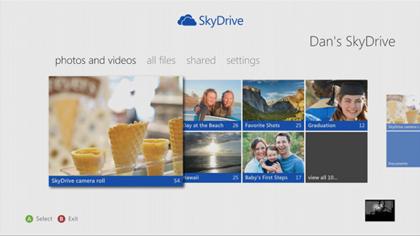 SkyDrive for Xbox