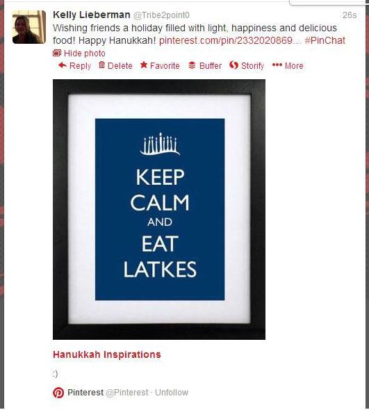 Kelly Lieberman's Pinterest Tweet