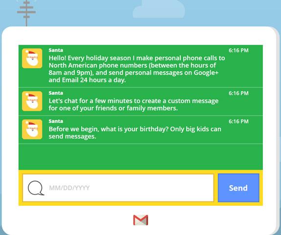 Google Santa Call