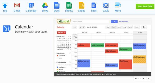 Google Calendar App, Google Docs
