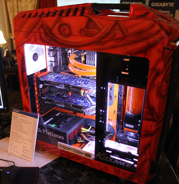 Gigabyte's Modded System For CES 2013