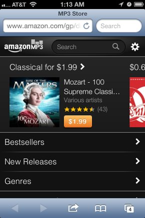 Amazon MP3 iOS