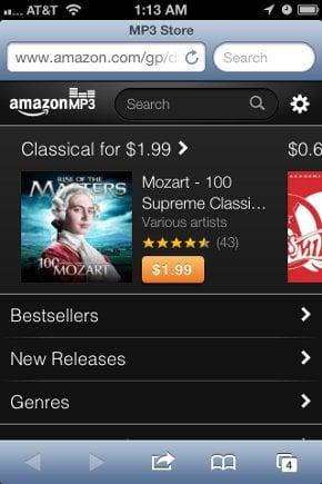 Amazon MP3 iOS