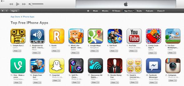 Apple iTunes Bestseller List