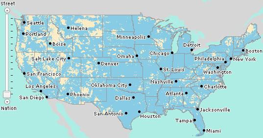 AT&T Map