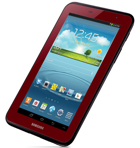 Samsung Galaxy Tab red