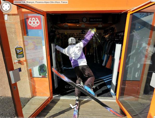 Ski Shop door