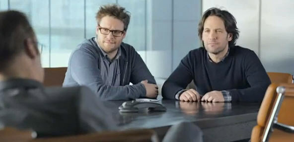 Seth Rogan and Paul Rudd
