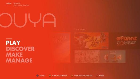 OUYA interface