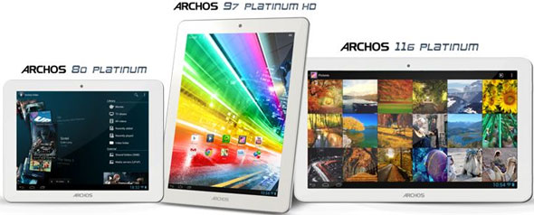 Archos Platinum Tablets