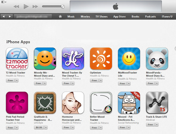 iTunes Mood Tracking Apps