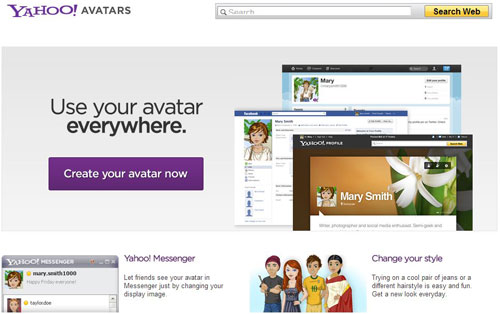 Yahoo! Avatar Website