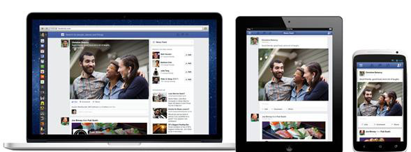 Facebook unified interface