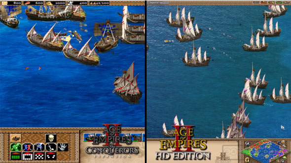 Age of Empires II HD Compared