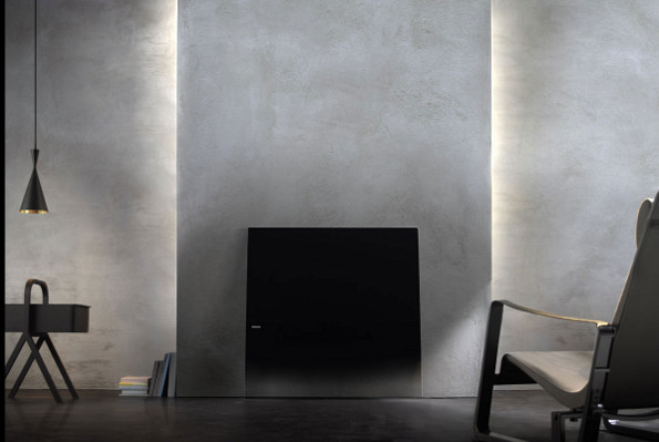 philips designline tv a bezel free sheet of glass hdtv that leans against your wall hothardware. Black Bedroom Furniture Sets. Home Design Ideas
