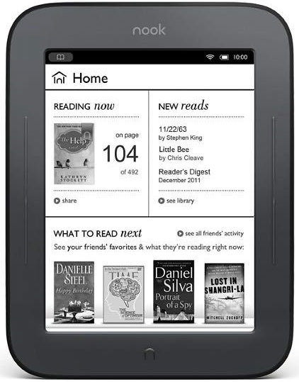 Barnes and Noble Nook Simple Touch ereader