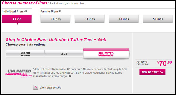 T-Mobile Outs New Pricing Plans, Unlimited Voice, Text, Data