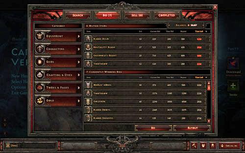 Diablo 3 Gold Auction House