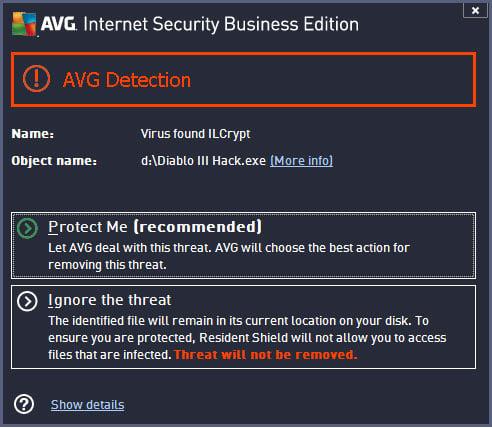 AVG Diablo III Virus
