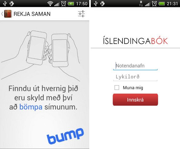 Book of Iceland app