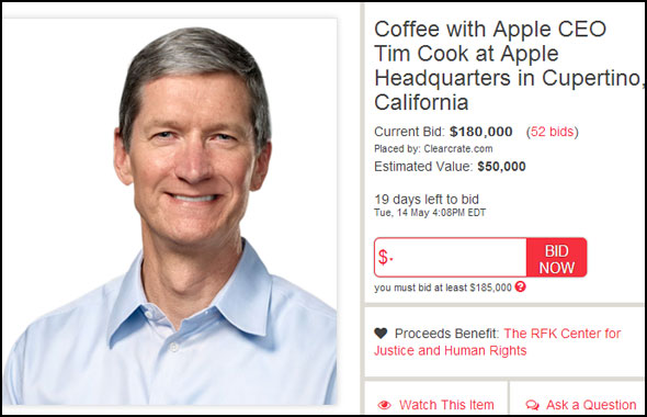 Tim Cook Charity Buzz