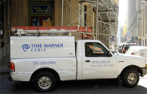 Time Warner Cable truck