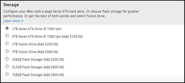 iMac SSD Prices