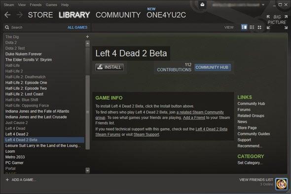 Steam Left 4 Dead 2 Linux Beta