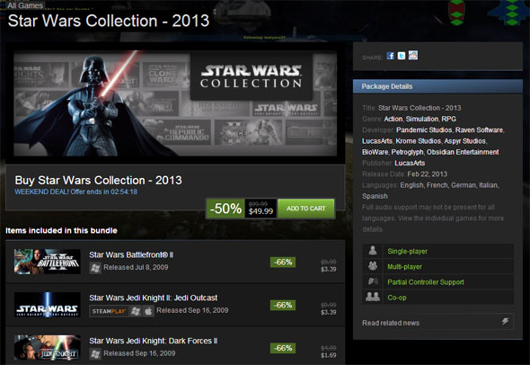 Star Wars Collection on Steam