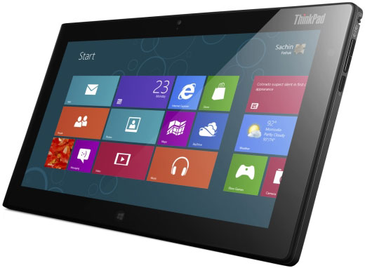Lenovo ThinkPad Tablet 2 with Windows 8