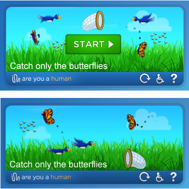 AreYouAHuman butterflies