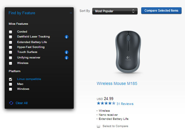Logitech Adds Linux Compatible Option To Product Site Sign Of