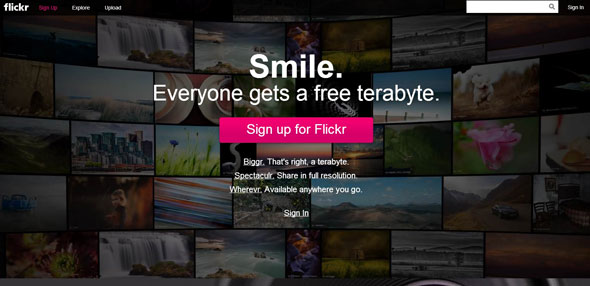 Flickr Promoting Free 1TB of Storage
