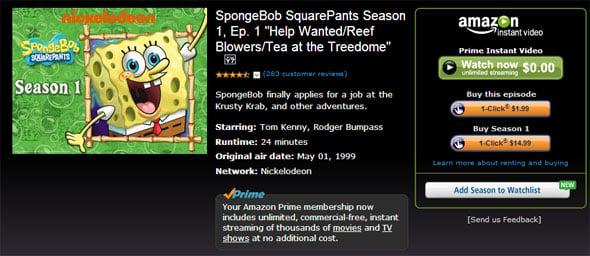 Amazon Spongebob
