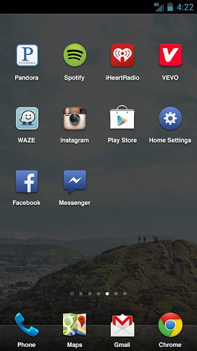Facebook Home dock