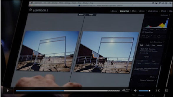 Adobe Lightroom 5 Upright Tool In Action