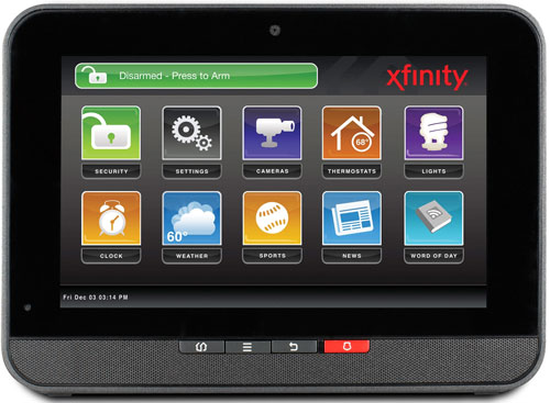 Comcast Xfinity Home Control Pad