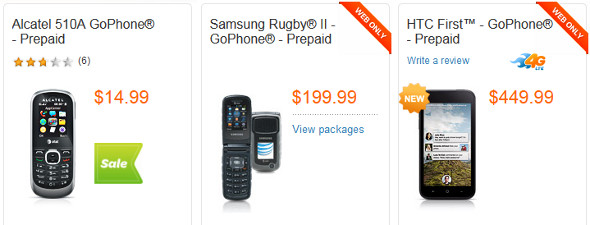 AT&T GoPhones