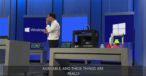 Windows 8.1 Natively supports 3D Printers