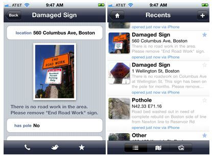 Citizens Connect mobile app for citizen/government communication
