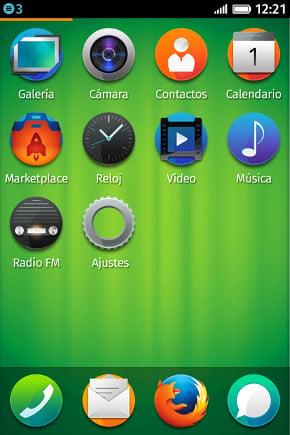 ZTe Open Firefox OS screenshot