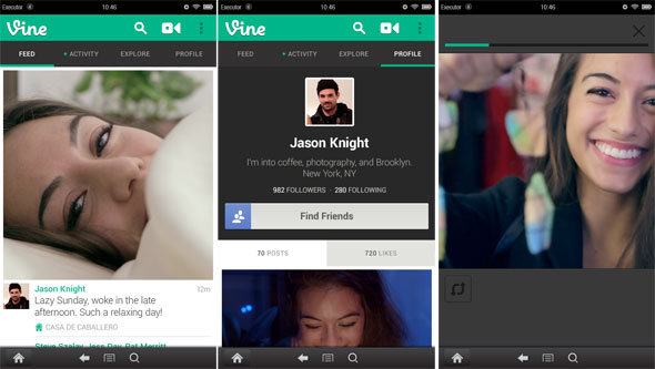 Vine Screenshots