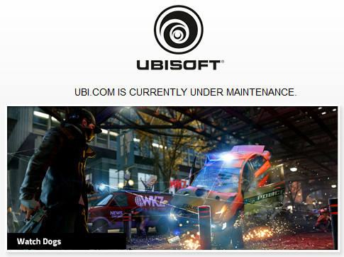 Ubi.com hacked, site under maintenance