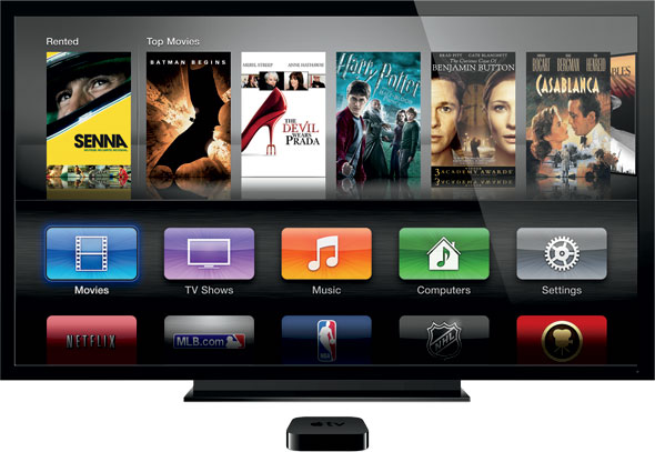 Apple TV, maybe soon with Time Warner Cable channels