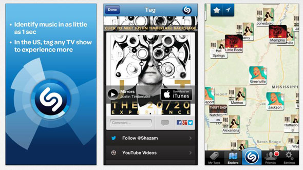 The iPhone Shazam App. Shazam recently received a $40 million investment by Carlos Slim.