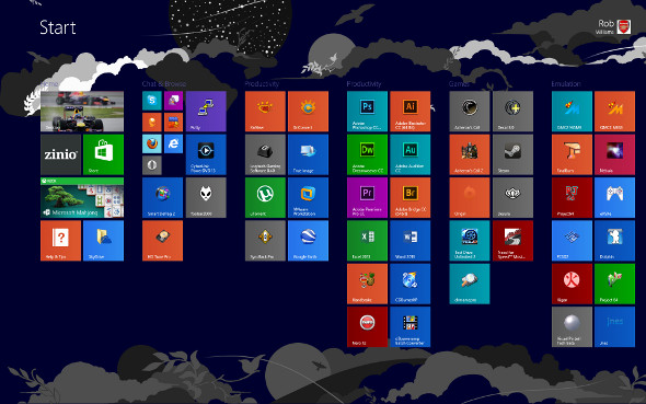 Windows 8.1 Start Screen