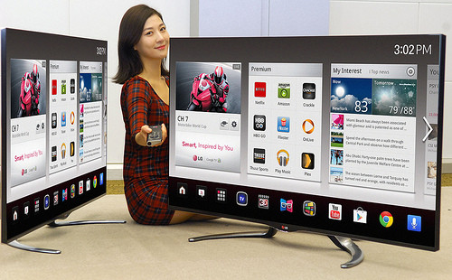 Google TV software baked into an LG Smart TV
