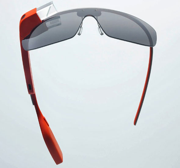 Google Glass, which is a display that  sits over one eye.