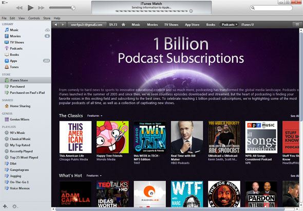 Pddcasts iTunes Store