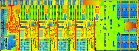 Intel Haswell quad core die